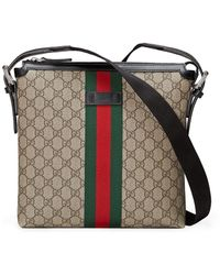 Gucci Web GG Supreme Messenger - Brown