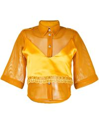 Thebe Magugu Chemise Safari - Orange