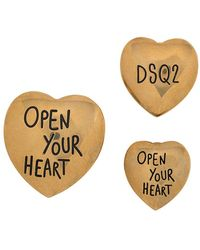 DSquared² Heart-shaped Pins - Metallic