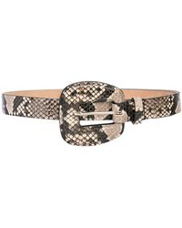 Veronica Beard Snakeskin Effect Belt - Gray