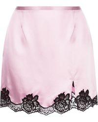 Fleur du Mal レーストリム スカート - ピンク