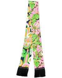 LaDoubleJ Skinny printed scarf - Grün