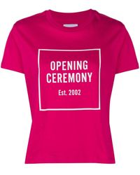 Opening Ceremony ロゴ Tシャツ - ピンク
