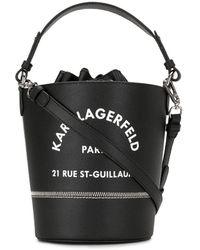 Karl Lagerfeld Сумка-ведро Rue St Guillaume - Черный