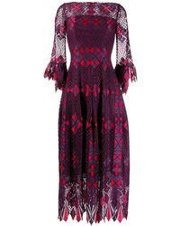 Talbot Runhof Платье Rotterdam - Пурпурный