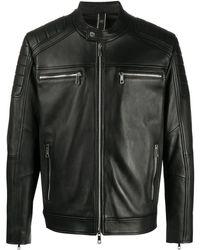 Hogan レザージャケット - ブラック