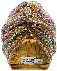 MaryJane Claverol Turbante con paillettes Malibu - Giallo