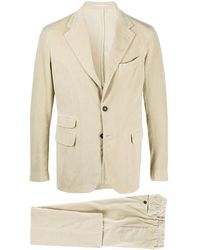 Massimo Alba Single-breasted Corduroy Suit - Natural