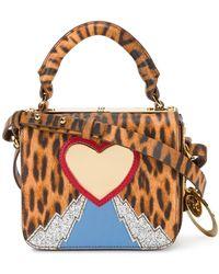 Sophie Hulme Bolso mini con motivo de corazón y leopardo - Multicolor