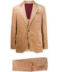 Brunello Cucinelli コーデュロイ シングルスーツ - ブラウン