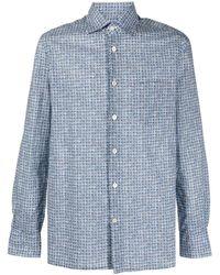 Kiton チェック シャツ - ブルー