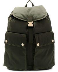 Porter Olive Nylon Back Pack - Green
