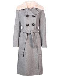 fair price elegant appearance superior quality COACH Cotton Calico Coat in Beige (Natural) - Lyst