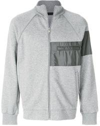 Prada - Sweat zippé à empiècements texturés - Lyst ea529ca892b