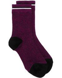Marni Трикотажные Носки В Мелкую Точку - Пурпурный