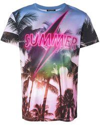 Balmain Summer Lightning Tシャツ - マルチカラー
