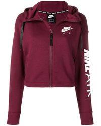Nike - Logo Zip Up Hoodie - Lyst