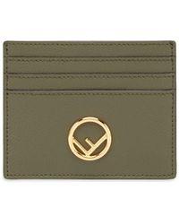Fendi Porte-cartes à plaque logo - Vert