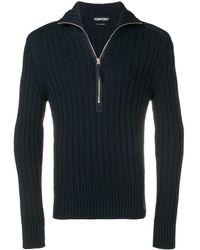 Tom Ford ハーフジップ セーター - ブルー