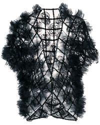 Comme Des Garçons Noir Kei Ninomiya | Rosette-embellished Cardigan | Lyst