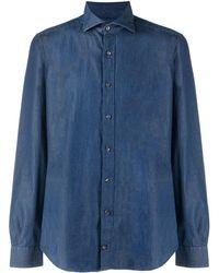 Fay デニムスタイル コットンシャツ - ブルー