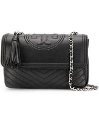 df6bf915f6 Tory Burch Chain Strap Shoulder Bag in Black - Lyst