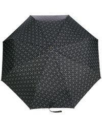 Moschino Logo Printed Umbrella - Black