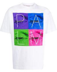 Palm Angels プリント Tシャツ - ホワイト