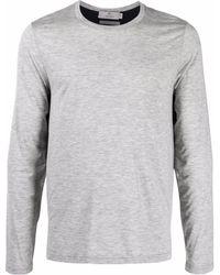Canali Round Neck T-shirt - Grey