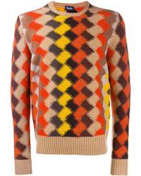 Drumohr Rombo Geometric Intarsia Sweater - Yellow