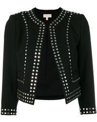 MICHAEL Michael Kors - Stud Embellished Fitted Jacket - Lyst