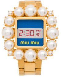 Miu Miu Armband im Uhren-Design - Mettallic