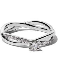 De Beers Platinum My First Infinity Solitaire Diamond Ring - Metallic