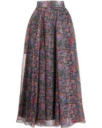 Zadig & Voltaire Joyo Long Printed Skirt - Black