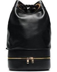 Sacai - Black Pool Leather Bucket Bag - Lyst
