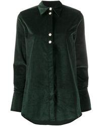 Victoria, Victoria Beckham - Contrast Button Shirt - Lyst