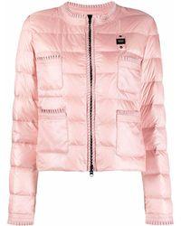 Blauer ロゴ パデッドジャケット - ピンク
