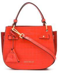 Coccinelle 'Didi' Mini-Tasche mit Kroko-Effekt - Rot