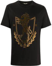 Roberto Cavalli ビジュートリム Tシャツ - ブラック