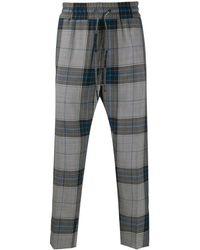 Vivienne Westwood Pantalon à motif tartan - Bleu