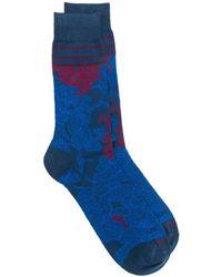 Etro フローラル 靴下 - ブルー
