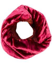 Issey Miyake Velvet Infinity Scarf - Pink