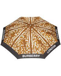 Burberry Зонт С Анималистичным Принтом - Коричневый