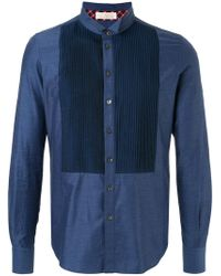 Education From Young Machines - Embroidered Denim Shirt - Lyst