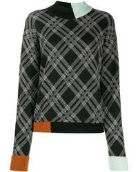 Antonio Marras カラーブロック セーター - ブラック