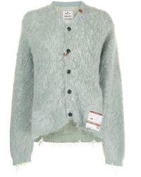 Maison Mihara Yasuhiro Textured Knit Cardigan - Green