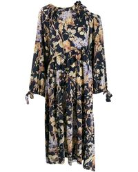 Zimmermann ドレープ ドレス - ブルー
