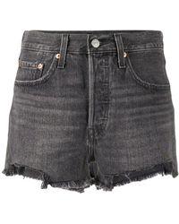 Levi's Halbhohe Jeans-Shorts - Grau