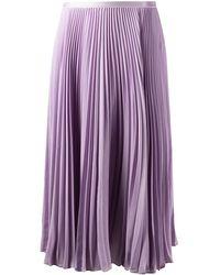 Polo Ralph Lauren Pleated Knee-length Skirt - Purple