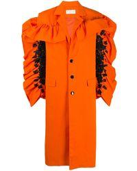 Loulou オーバーサイズ コート - オレンジ